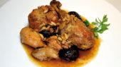 Rostit pollastre amb prunes