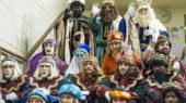 Els Reis Mags d'Orient a les escales de l'Ajuntament