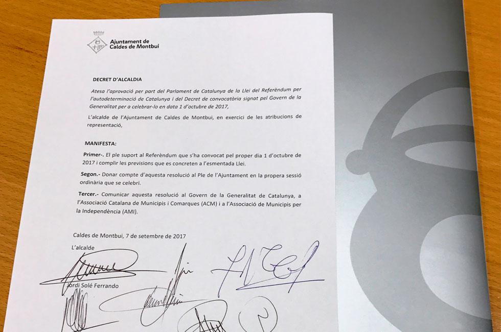 firma decret referendum